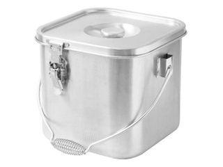 HONMA 本間製作所 IH対応 19�� 価格 目盛付 �障 24cm 角型給食缶