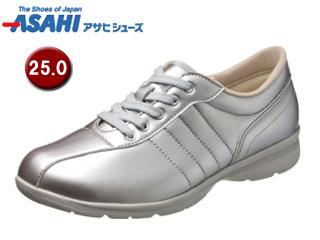 ASAHI/アサヒシューズ KS23352-1 快歩主義 L120AC レディースカジュアルシューズ 【25.0cm・3E】 (シルバー)