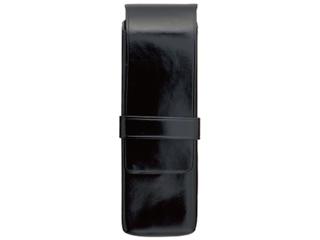 Il Bussetto/イルブセット Pen case/ペンケース 【ブラック】 2本用 ペンホルダー ケース  筆箱  イタリア 万年筆