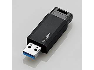 ELECOM/エレコム USBメモリ/USB3.1 Gen1/ノック式/オートリターン機能/128GB/ブラック MF-PKU3128GBK