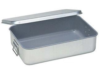 オオイ金属 アルマイト 飯缶(蓋付)262小学校用(スミフロン加工)H110