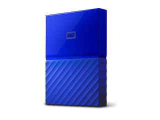 WESTERN DIGITAL ウエスタンデジタル USB3.0対応ポータブルハードディスク My Passport 4TB WDBYFT0040BBL-JESN ブルー