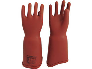 WATABE/渡部工業 高圧ゴム手袋410mm胴太型Lサイズ 550L