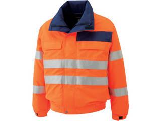 MIDORI ANZEN/ミドリ安全 高視認性 防水帯電防止防寒ブルゾン オレンジ 4Lサイズ SE1135-UE-4L
