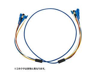 サンワサプライ ロバスト光ファイバケーブル(10m・ブルー) HKB-SCSCRB1-10
