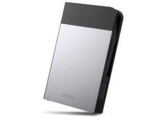 BUFFALO バッファロー ICカード対応MILスペック耐衝撃ボディー防滴・防塵ポータブルハードディスク 1TB シルバー HD-PZN1.0U3-S