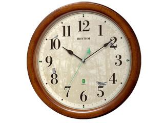 RHYTHM/リズム時計 8MN408SR06 日本野鳥の会 四季の野鳥 報時掛時計