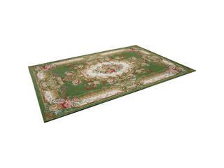 ジャガード織シェニールカーペット グリーン M66160230GR