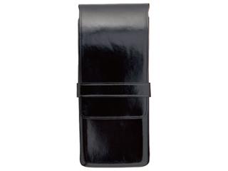 Il Bussetto/イルブセット Pen case/ペンケース 【ブラック】 3本用 ペンホルダー ケース  筆箱  イタリア 万年筆