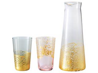 江戸硝子 金玻璃 酒器セット C9007515