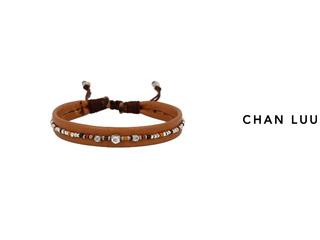 CHAN LUU/チャンルー ビーズミックス ブレスレット BSM-1684(BROWN MIX) チャンルーオリジナル巾着袋付き!