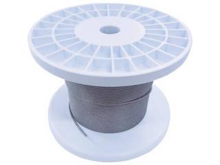 NISSA/ニッサチェイン 透明コーティングワイヤロープ 2.0mm×100m TSY20V-CLR