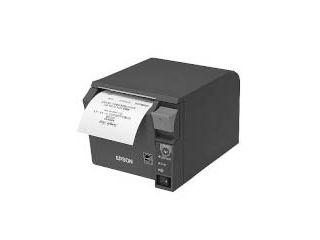 EPSON/エプソン 【キャンセル不可商品】サーマルレシートプリンター/80mm/USB・シリアル/前面操作/ダークグレー TM702US202