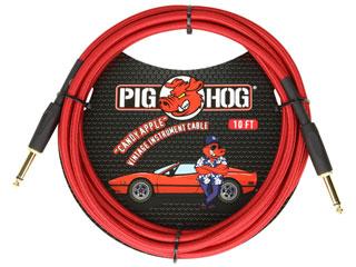 """世界最強コスパケーブルPIG 安い HOG日本上陸 PIG HOG PCH10CA ギターケーブル 10ft Inst Apple"""" Vintage Series Cable """"Candy セール品"""