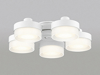 ODELIC/オーデリック WF268PC LEDシーリングファン 灯具 [薄型ガラスタイプ・5灯]【~8畳】