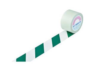 J.G.C./日本緑十字社 ガードテープ(ラインテープ) 白/緑(トラ柄) 75mm幅×100m 148104