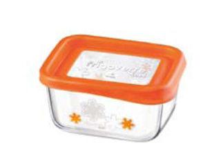 キッチンを演出するポップなデザイン 希少 Bormioli 超特価SALE開催 Rocco ボルミオリロッコ フリゴベール ファン 13×10cm プレゼント包装はお承りできませんのでご了承下さい ※箱無し システム オレンジ