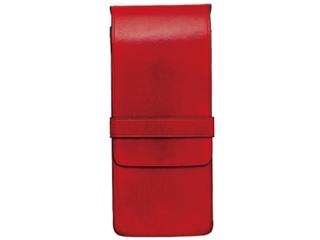Il Bussetto/イルブセット Pen case/ペンケース 【レッド】 3本用 ペンホルダー ケース  筆箱  イタリア 万年筆