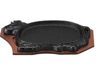 自慢の保温性で 出来たての味をお楽しみ下さい CHUBU 中部コーポレーション スピード対応 全国送料無料 トキワ アニマル 312 30cm 鉄鋳物製 ショップ ステーキ皿