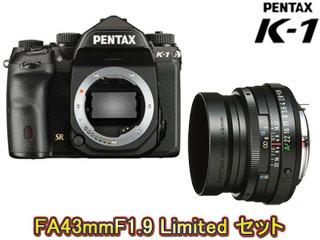【値下げしました!】 PENTAX/ペンタックス PENTAX K-1 ボディ+FA 43mmF1.9 Limited(ブラック)セット【k1set】
