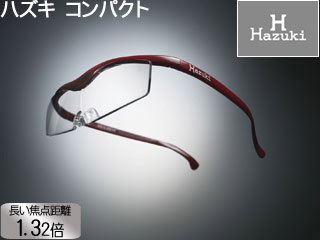 Hazuki Company/ハズキ 【Hazuki/ハズキルーペ】メガネ型拡大鏡 コンパクト 1.32倍 クリアレンズ 赤 【ムラウチドットコムはハズキルーペ正規販売店です】