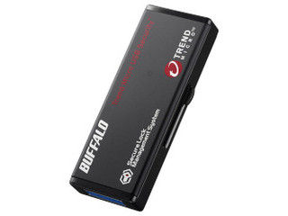 BUFFALO/バッファロー ハードウェア暗号化機能 USB3.0 セキュリティーUSBメモリー ウイルスチェック 16GB RUF3-HS16GTV