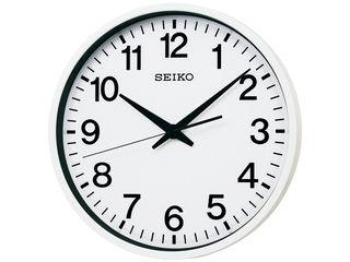 SEIKO/セイコークロック GP201W 衛星電波掛時計 防湿・防塵型/スイープセコンド