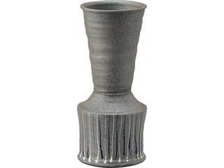 信楽焼 信楽焼 照幸作 花瓶 線   G5‐5401