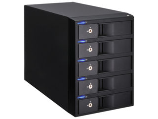 センチュリー 3.5インチHDD用ケース 裸族のインテリジェントビル 5Bay USB3.0+eSATAコンボVer.2 CRIB535EU3V2