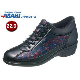 ASAHI/アサヒシューズ KS23297 快歩主義 L114AC アクティブシリーズ レディースシューズ 【22.0cm・3E】 (ブラックガラ )