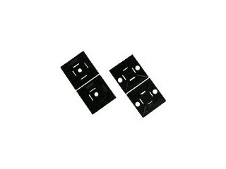 Panduit/パンドウイットコーポレーション マウントベース ゴム系粘着テープ付き テレホングレー 500個入 ABM2S-A-D14