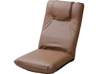 低反発座椅子(ヘッドレスト付)2個組 ブラウン TT-13BR-2
