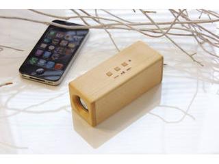 ヨシモク SOUNDFLY(サウンドフライ) Bluetooth 木製 ワイヤレススピーカー ブナ SF-BE ・木製、素材、音へのこだわり ・徳島県