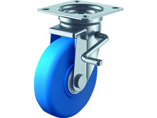 人気激安 早割クーポン YUEI CASTER ユーエイ R 産業用キャスターダブルS付自在車200径MCナイロン車輪 MCBJB-200