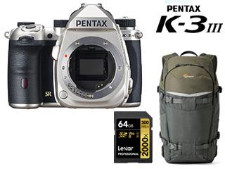 最高の 【ペンタプリズム【ペンタプリズム プレゼントキャンペーン!7月18日(日)まで】 PENTAX ペンタックス Mark K-3 III Mark III シルバー ボディ+レキサー 64GB SDXCUHS-II カード+カメラバッグセット【k3mk3set】【k3mk3cmp】, GINZA ENJUE:30995ae3 --- eamgalib.ru