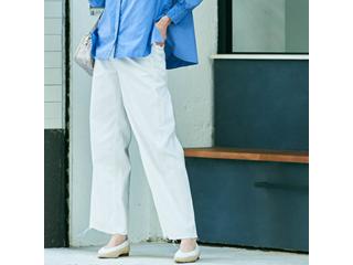 SweetCamel/スウィートキャメル 【 サイズ 58 /01ホワイト 】ストリィキングストレッチカツラギ アンクルワイド パンツ CA6384