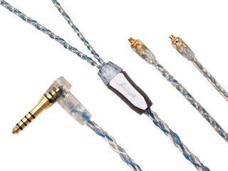 Luminox Audio/ルミノクスオーディオ LNA-BOB-MMCX-44L イヤホン リケーブル ブースターブルー MMCX 4.4mm(L字) Luminox Audio Booster Blue LNA Booster Blue MMCX-4.4mmL