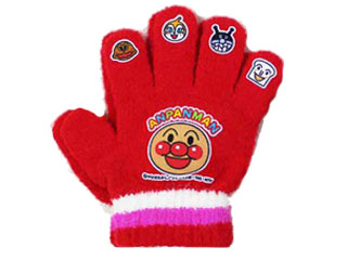 人気のキャラクター手袋 5本指シリーズ もこもこで肌触りよく 伸縮性も抜群です キッズキャラクター手袋 アンパンマンキッズフリー5指 レッド AN41547 5指 キッズ 雪 売れ筋ランキング 手袋 アンパンマン 冬 スキー 百貨店 トドラー