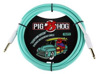 """世界最強コスパケーブルPIG HOG日本上陸 PIG HOG PCH10SG ギターケーブル 10ft """"Seafoam Inst 日本全国 送料無料 激安卸販売新品 Green"""" Cable Vintage Series"""