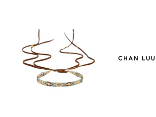 CHAN LUU/チャンルー ビーズミックス レザーネックレス NG-13421(MULTI) チャンルーオリジナル巾着袋付き!
