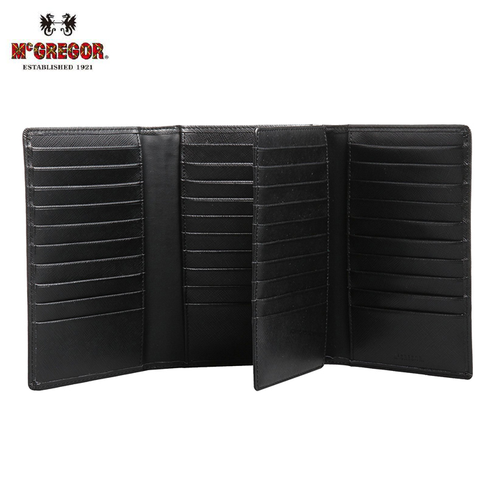 McGREGOR/マックレガー 22046 本革製 50枚 カードケース (ブラック)