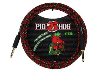"""世界最強コスパケーブルPIG HOG日本上陸 PIG HOG 大決算セール ◆セール特価品◆ PHC10PL ギターケーブル 10ft Inst Series """"Tartan Plaid"""" Cable Vintage"""