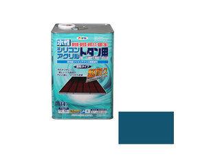 ASAHIPEN/アサヒペン 水性シリコンアクリルトタン用 14L オーシャンブルー