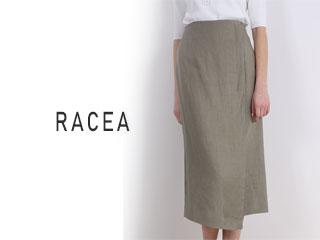 RACEA/ラシア 20500407 リネンタイトロングスカート  オリーブ