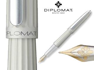 DIPLOMAT/ディプロマット 【Aero/アエロ】マットシルバー 14K FP (M)