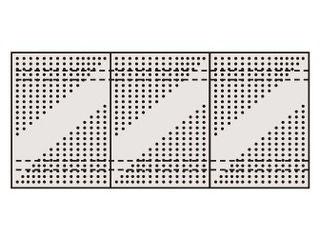 SAKAE/サカエ 【代引不可】ステンレスパンチングウォールシステム PO-603LSU