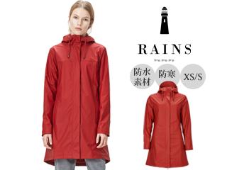 RAINS/レインズ 本格防水/防寒■レディースレインジャケット/Firn Jacket【スカーレット】 XS/S 防水 撥水 レインコート 雨 雪 男女兼用 雨具 合