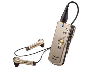 PIONEER/パイオニア VMR-M750-N(ゴールド) ボイスモニタリングレシーバー(集音器) 【femimi/フェミミ】