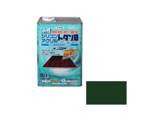 ASAHIPEN/アサヒペン 水性シリコンアクリルトタン用 14L 緑