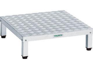TRUSCO/トラスコ中山 【代引不可】高床式アルミ製ステップ 600X600XH190~220 TFSH-0660AL